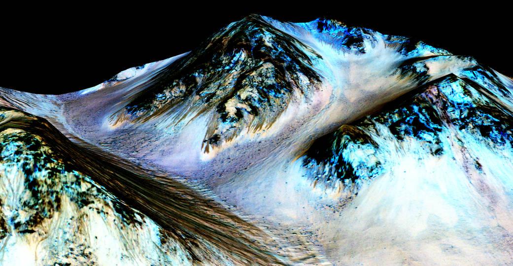 화성에 소금물이 흐른다.