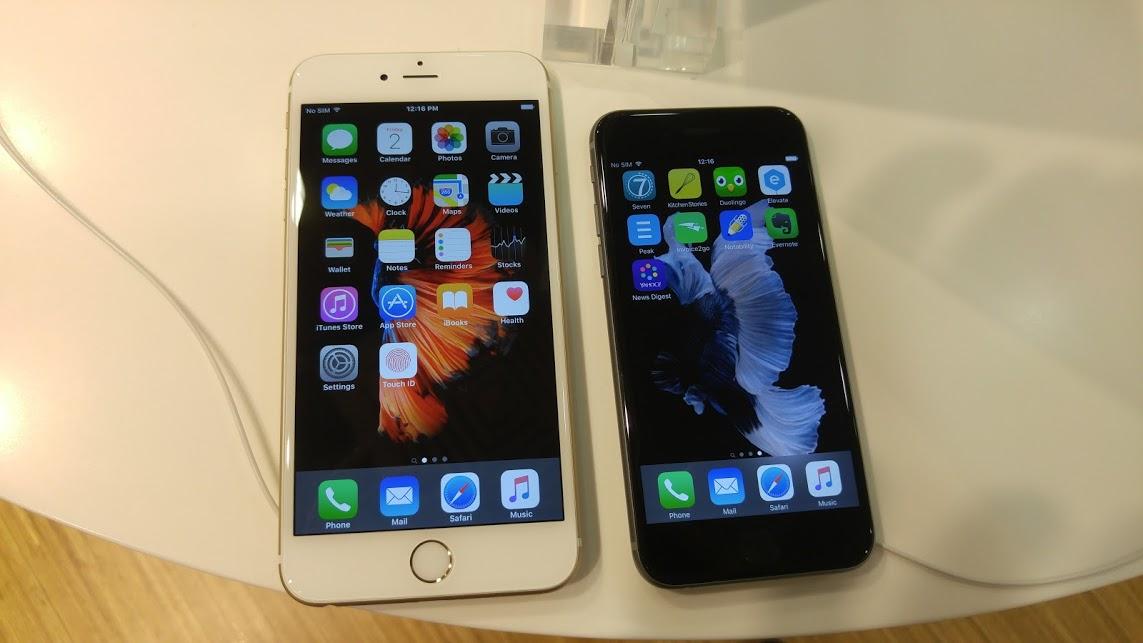 싱가포르에서 만난 아이폰6s, 아이폰6s 플러스 로..