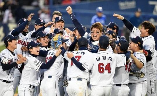 2015년 두산베어스 한국시리즈 우승...