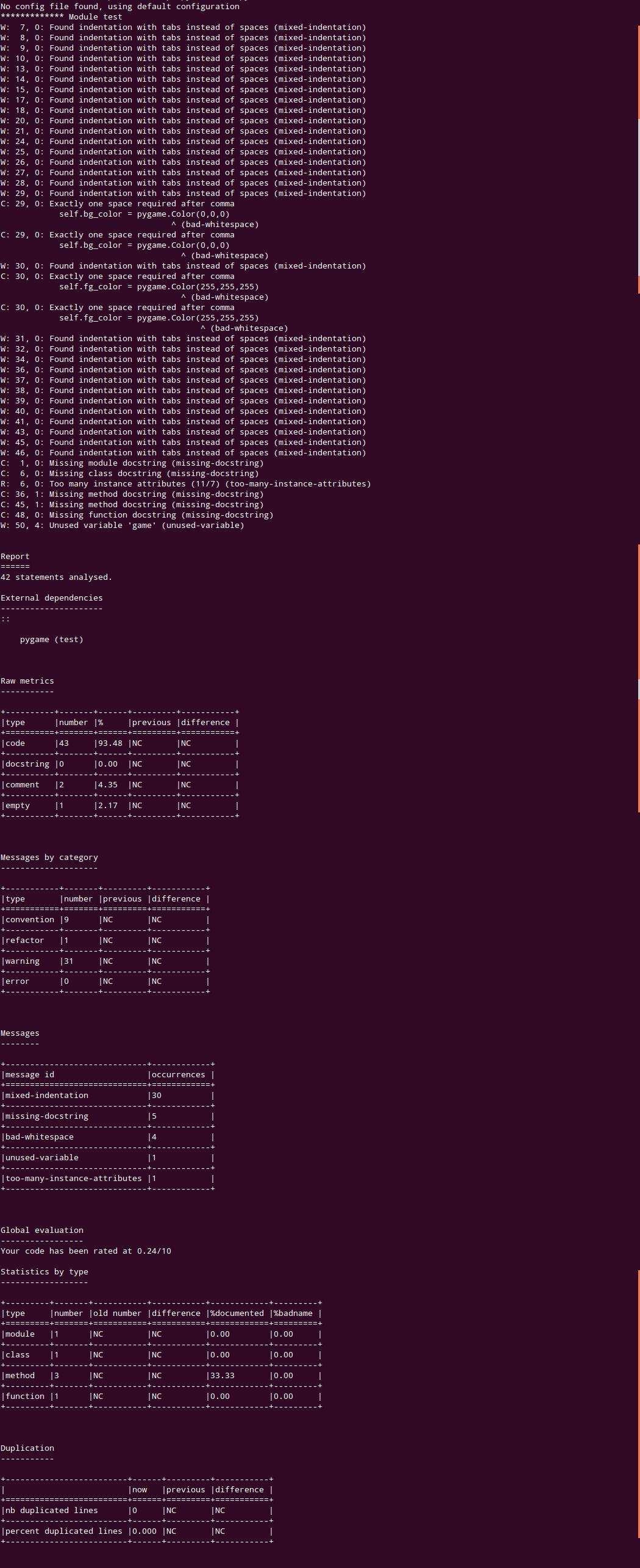 pylint로 파이썬 코드를 정적으로 분석해보자!!