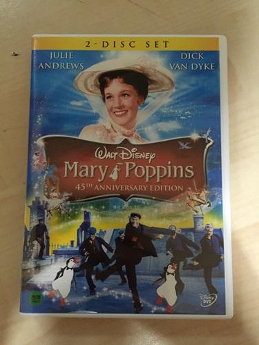 """""""메리 포핀스"""" DVD를 샀습니다."""
