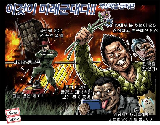 미래 군인 만평