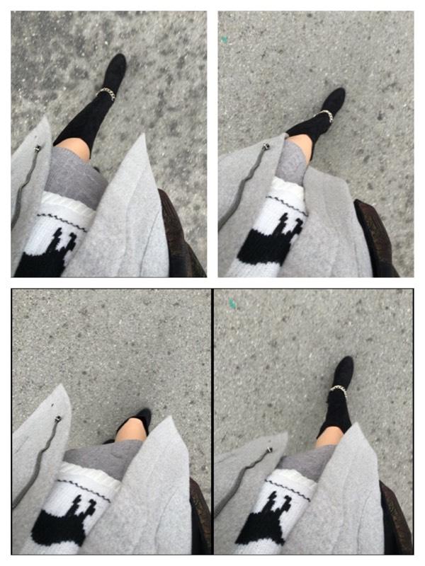 그레이 톤 패션 - 니트치마 두번째 스타일링