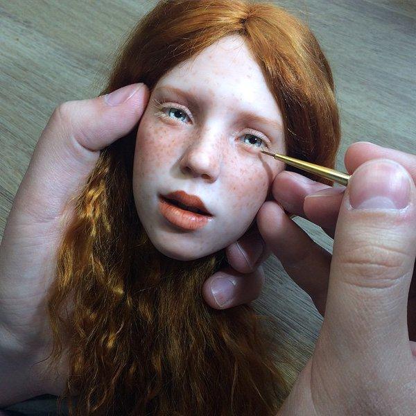 러시아인 아티스트가 만든 인형이 굉장히 리얼해서 ..