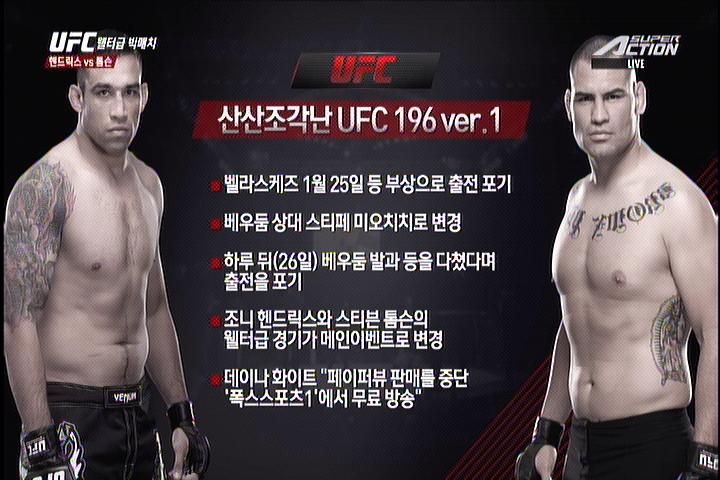 UFC 196, 케인 벨라스케즈와 베우둠 재대결 무산