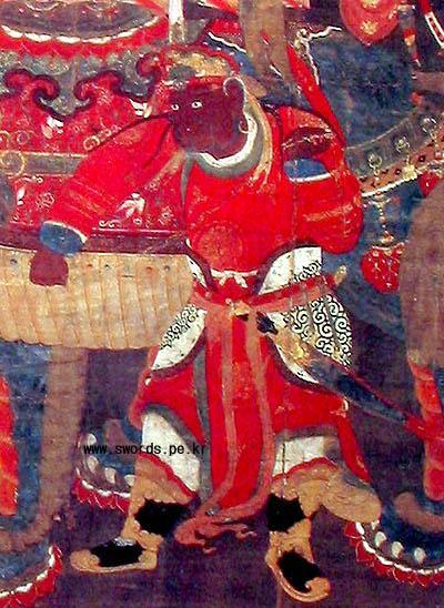 고려 왕의 직속부대 도열모습 (12세기)