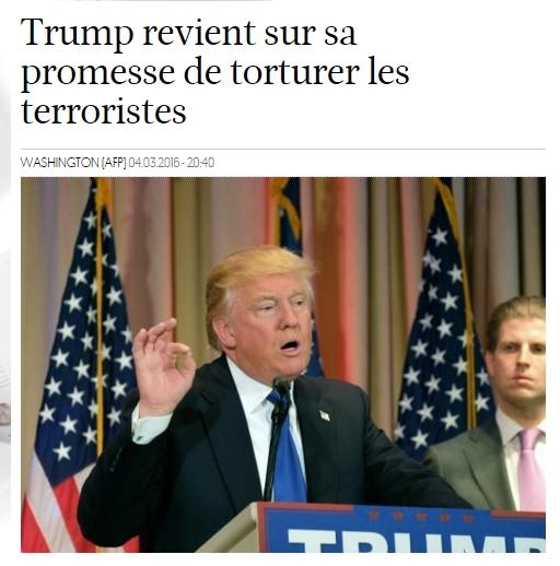 """트럼프,""""테러범을 고문하지 않겠다!"""""""