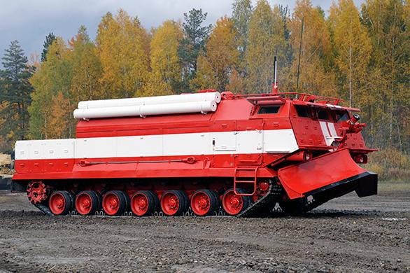 러시아군에 특수소방차량 2대가 납품되다.