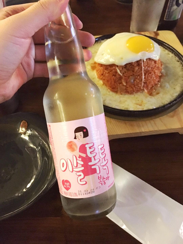 코다차야 (김볶,감튀 + 이슬톡톡 복숭아) / 구로..
