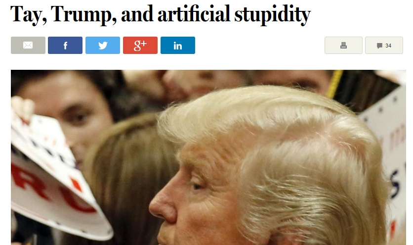 채팅봇 테이,트럼프 그리고 바보들...