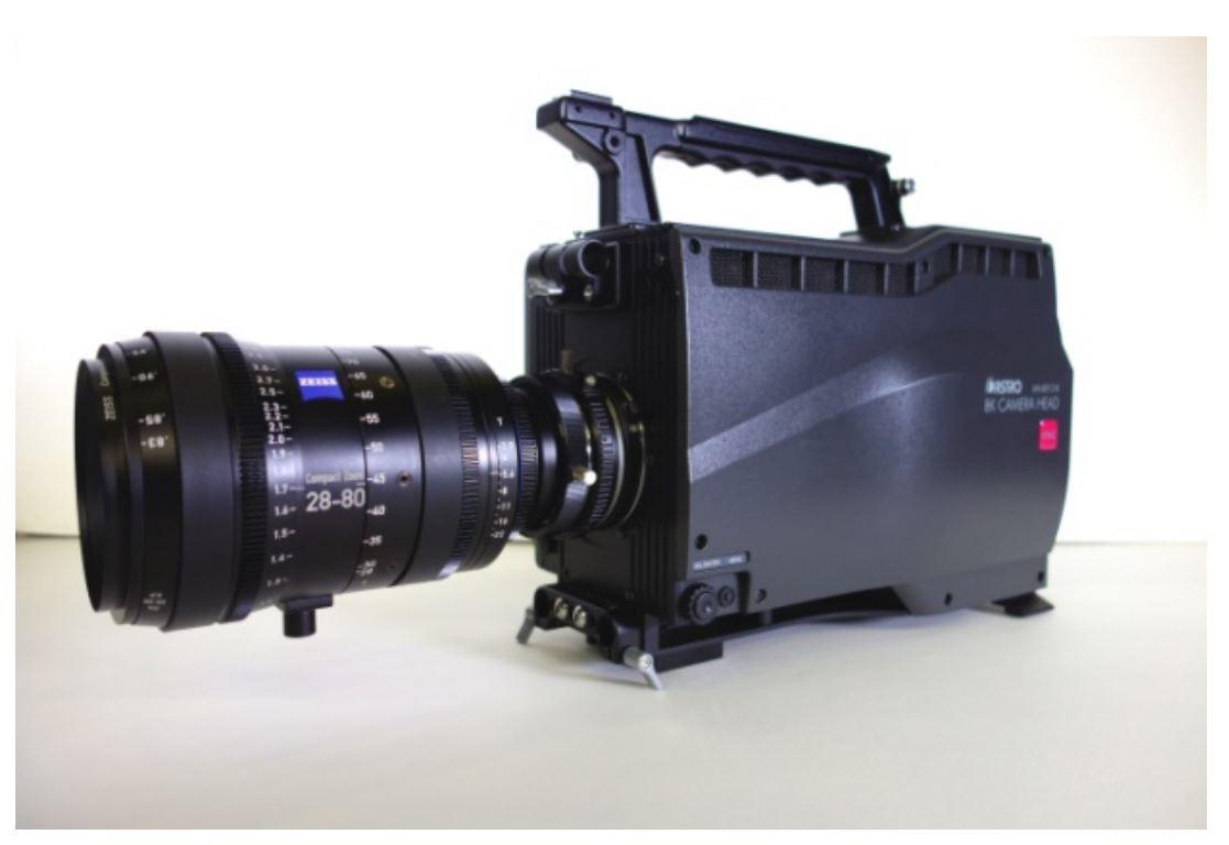 NHK 1억 3300만 화소의 8K 카메라 개발 전시