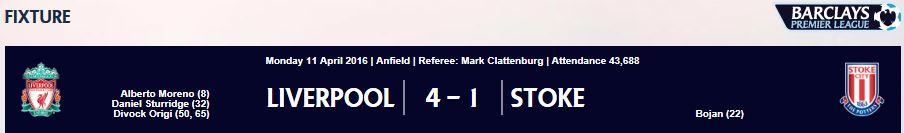 2015/16 EPL 31R 리버풀 VS 스토크시티