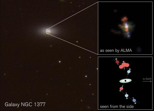 차가운 제트를 뿜어내는 블랙홀