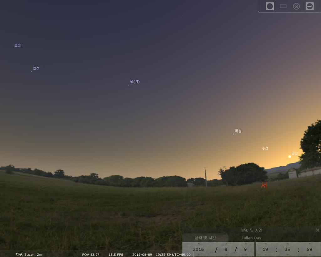 12일 페르세우스 유성우가 있는 밤하늘 별자리 분포