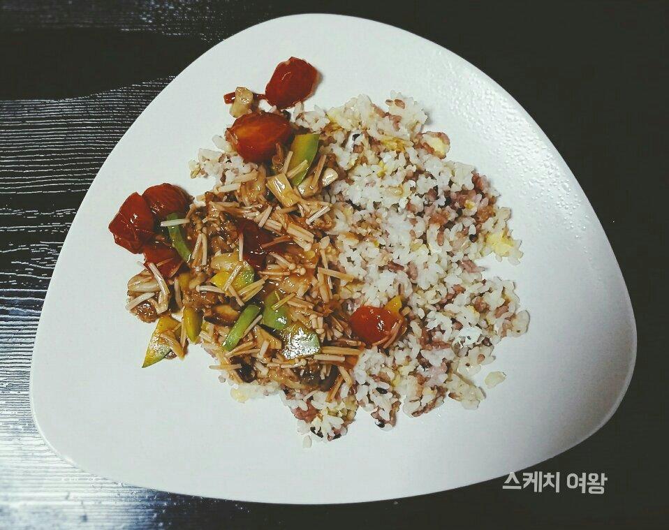 찬밥 어떻게 먹을까? 버섯덮밥