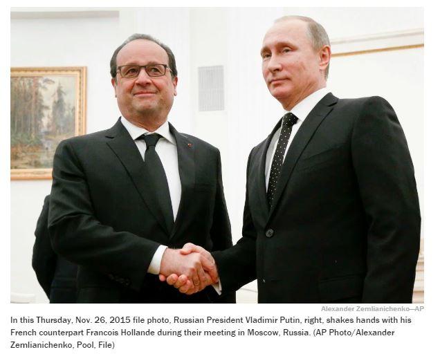 [시리아]프랑스와 러시아의 갈등 고조...