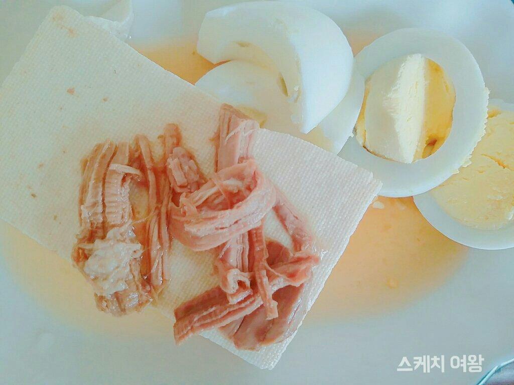 두부장조림 계란이 있는 아침