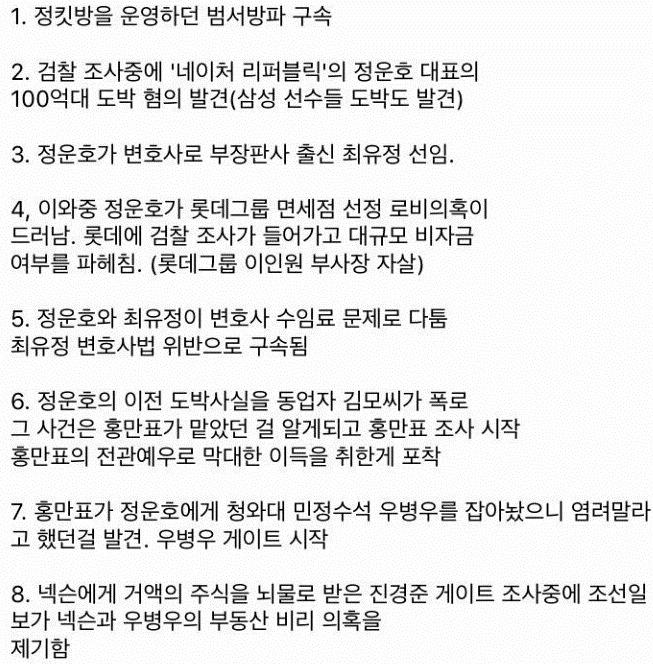 정운호 도박혐의에서 시작된 조사가 낳은 나비효과
