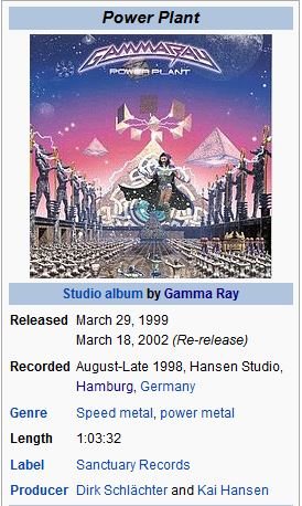 GAMMA RAY - 12. A WHILE IN DREAMLAND/POW..