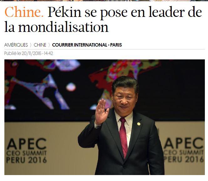 """시진핑, """"이제 세계화는 중국이 책임진다!"""""""