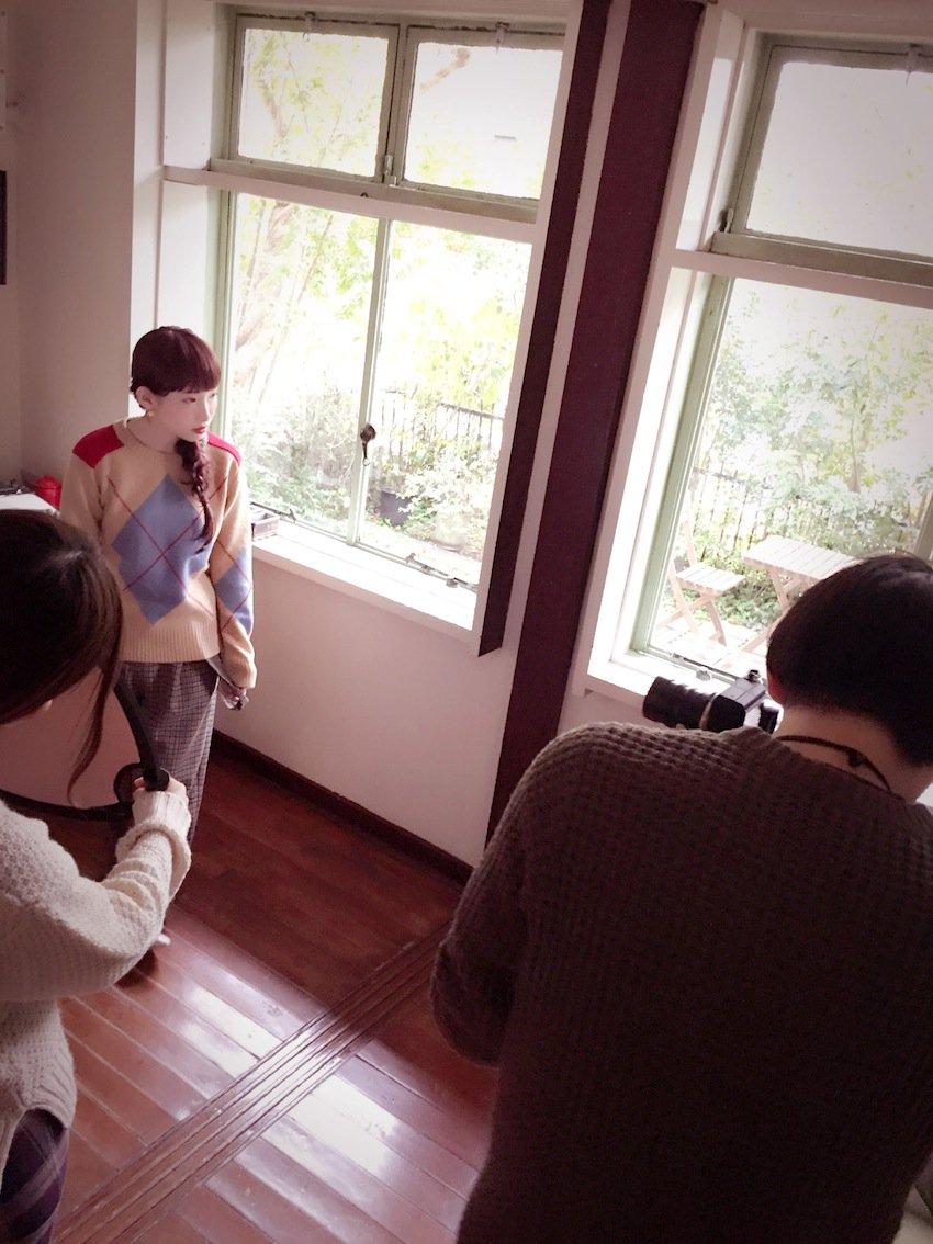 성우 난죠 요시노 & 하나자와 카나, 잡지 사진 촬..