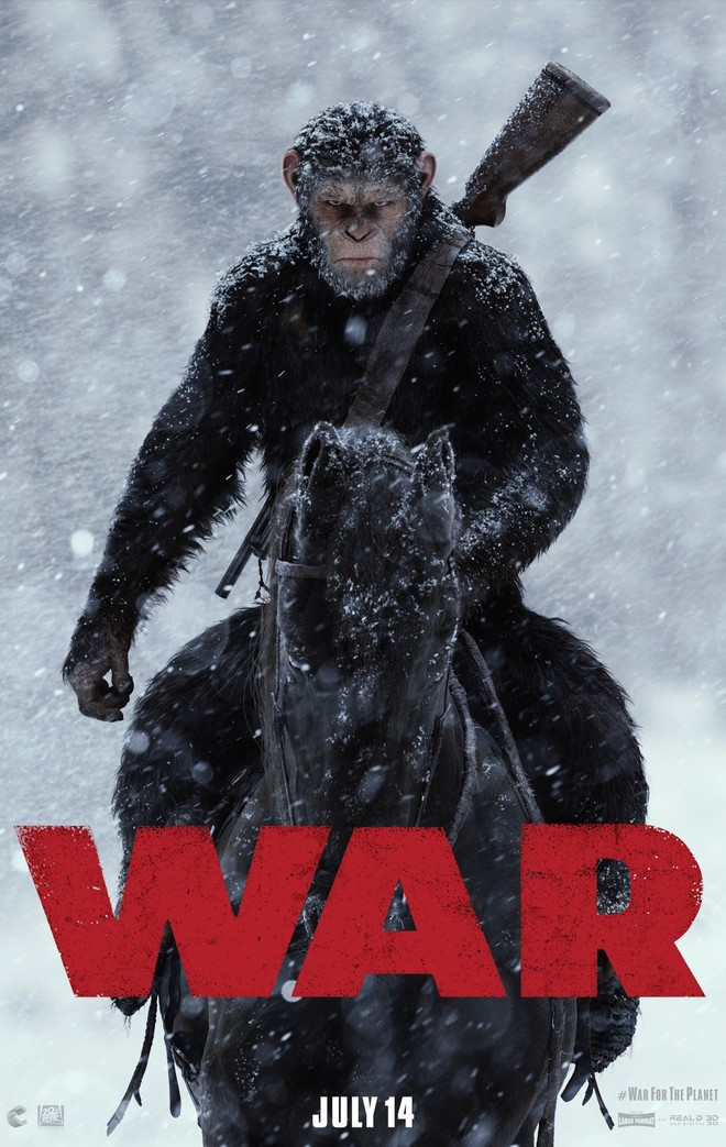 """War of the Planet of the Apes"" 예고편과 포스터.."