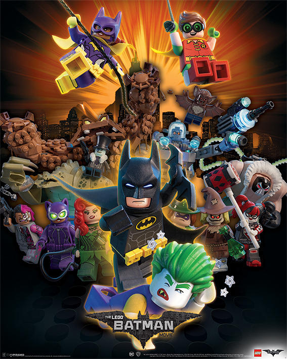 """The LEGO Batman Movie"" 포스터들입니다."