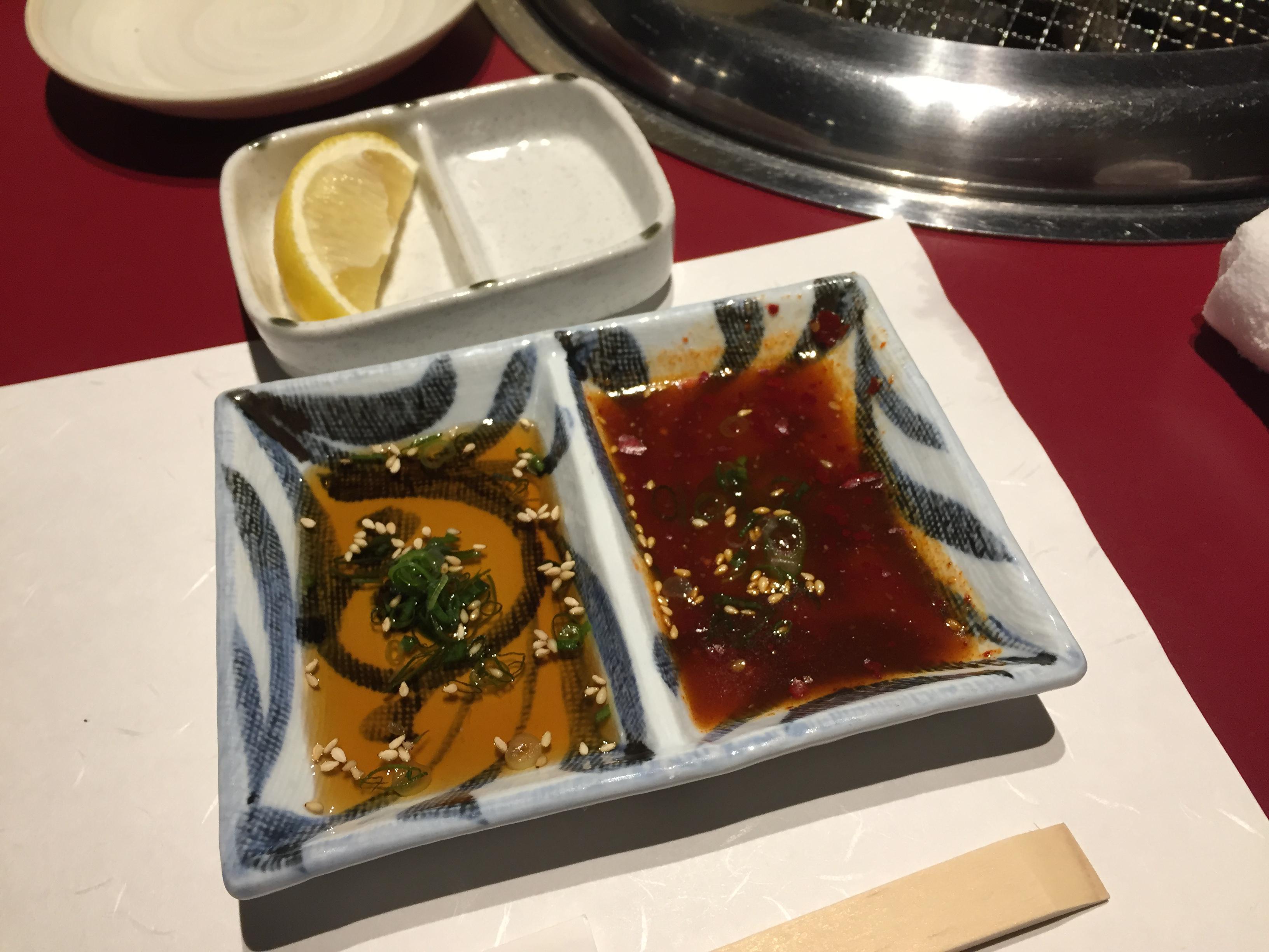 炭火焼肉 신사이바시점에서 야키니쿠를 처음 먹어..