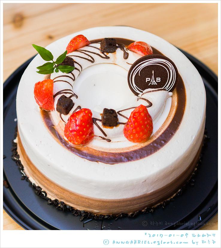[파리바게뜨] 초코앤화이트 쉬폰 케이크