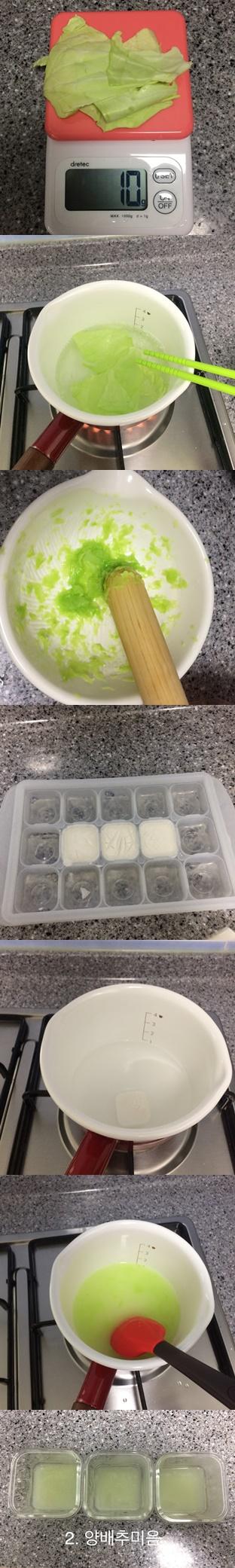 2. 양배추이유식
