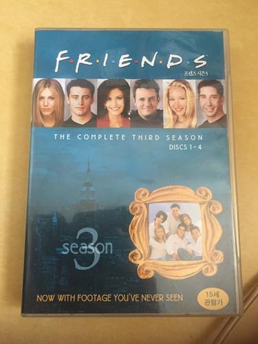 """""""프렌즈"""" 시즌 3 DVD를 입수 했습니다."""
