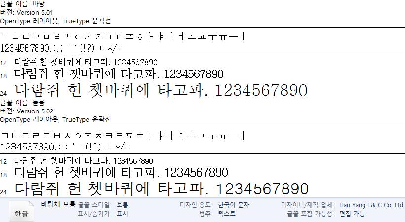 한국어 글꼴의 기원