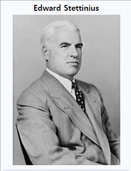 루스벨트가 스테티니어스를 국무장관에 임명한 이유는?