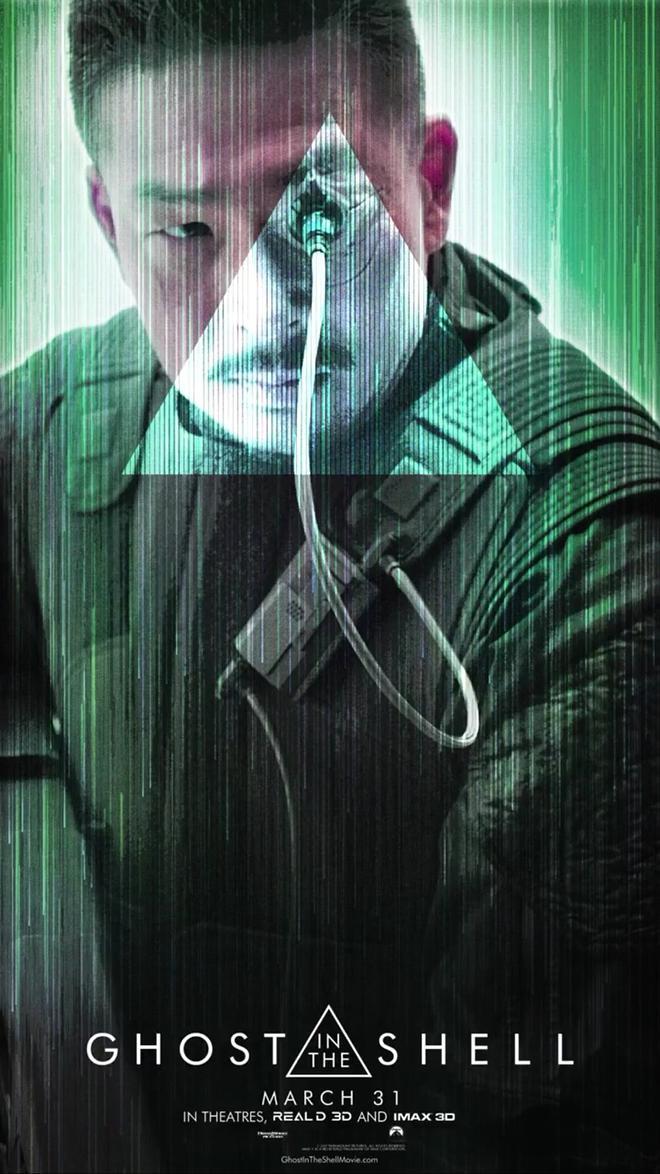 """""""공각기동대 : 고스트 인 더 쉘"""" 캐릭터 포스터 입니다."""