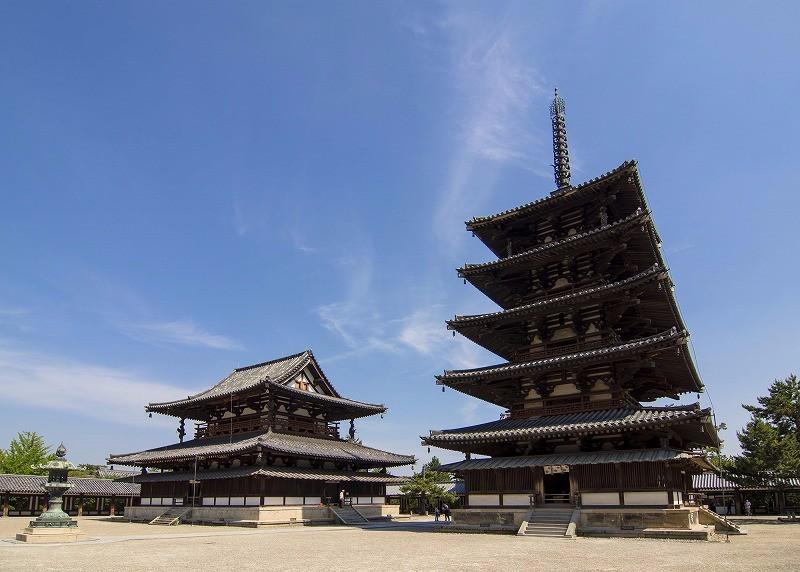 호류지 오층탑(Horyu-ji Pagoda),607 CE,Ik..