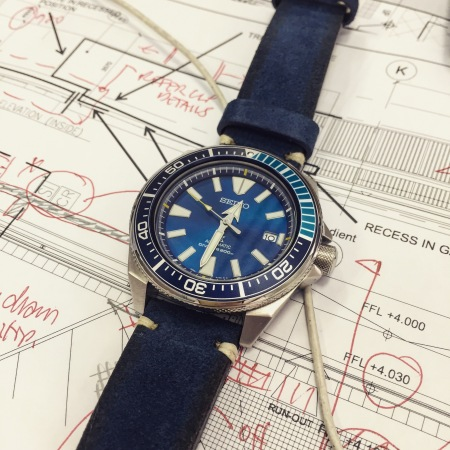 시계51 - Seiko Blue Lagoon SRPB09K1 with Blue..