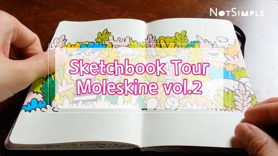 Moleskine vol.2 Sketchbook Flip Through