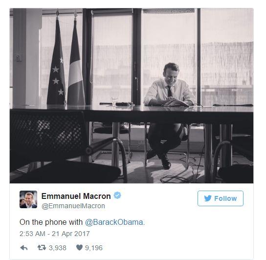 [프랑스 대선]오바마는 마크롱을 지지하나?