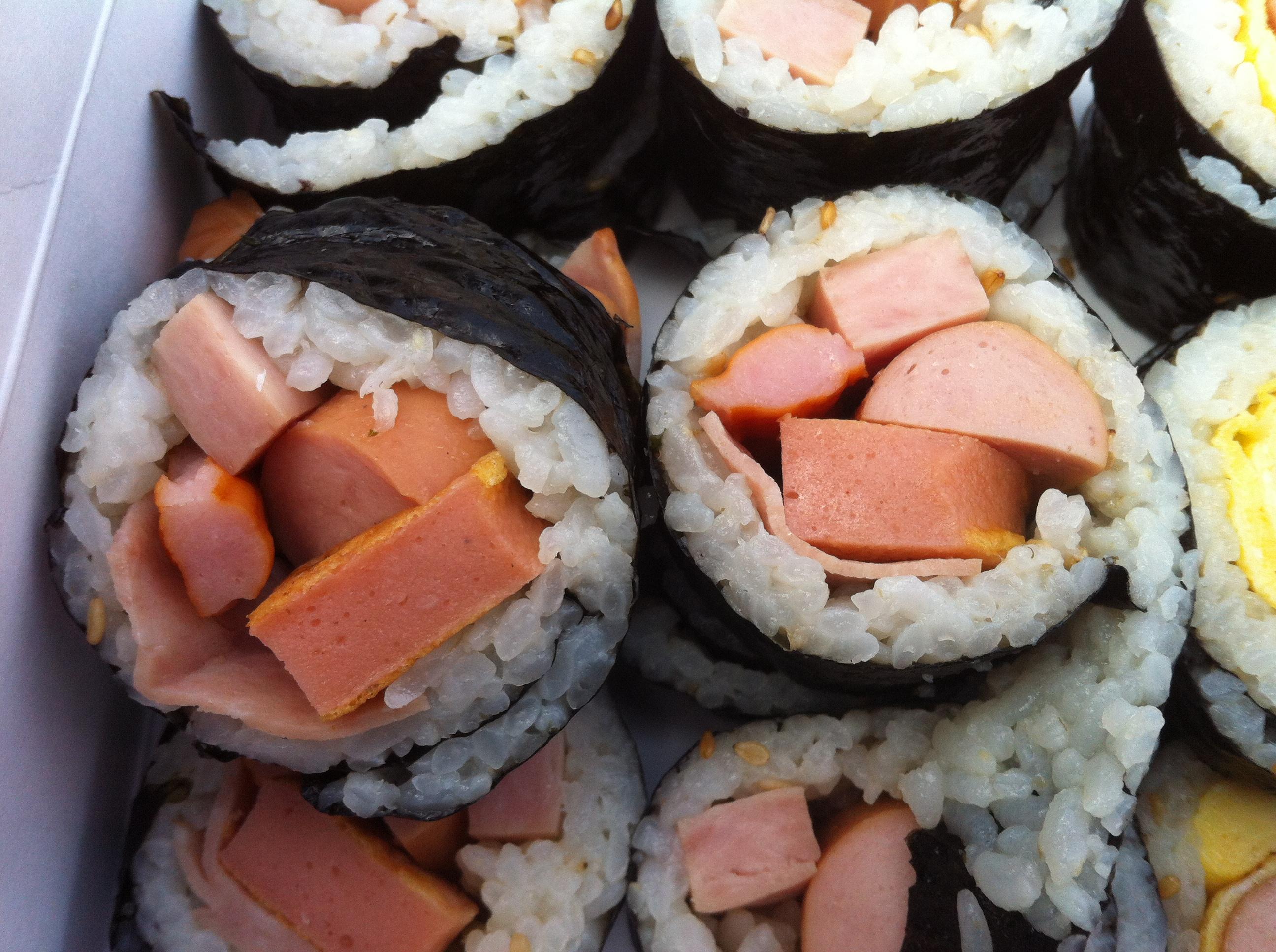5종류 햄이 들어간 김밥!