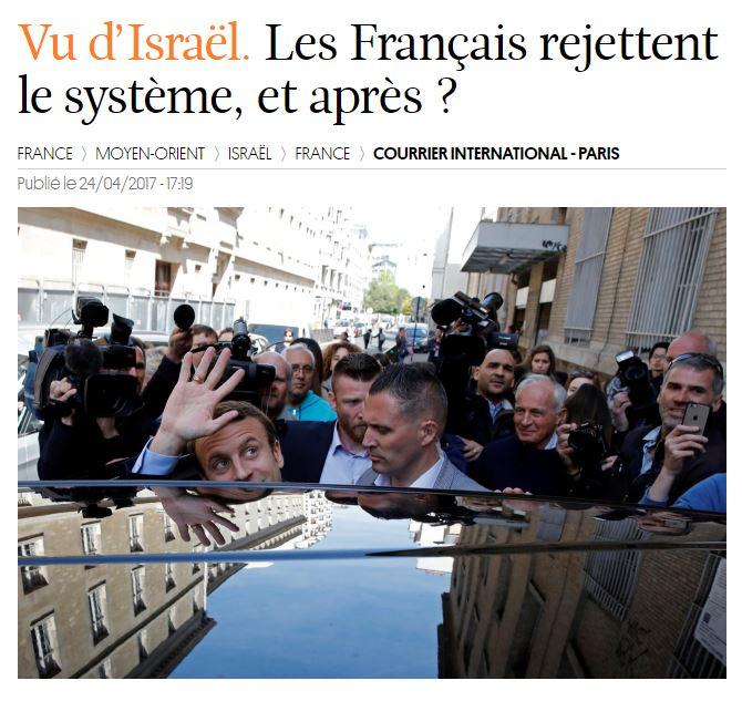 [이스라엘]프랑스 대선 결과에 대한 반응은?