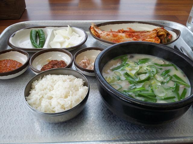 오늘의 점심메뉴, 간만에 `순대국밥`