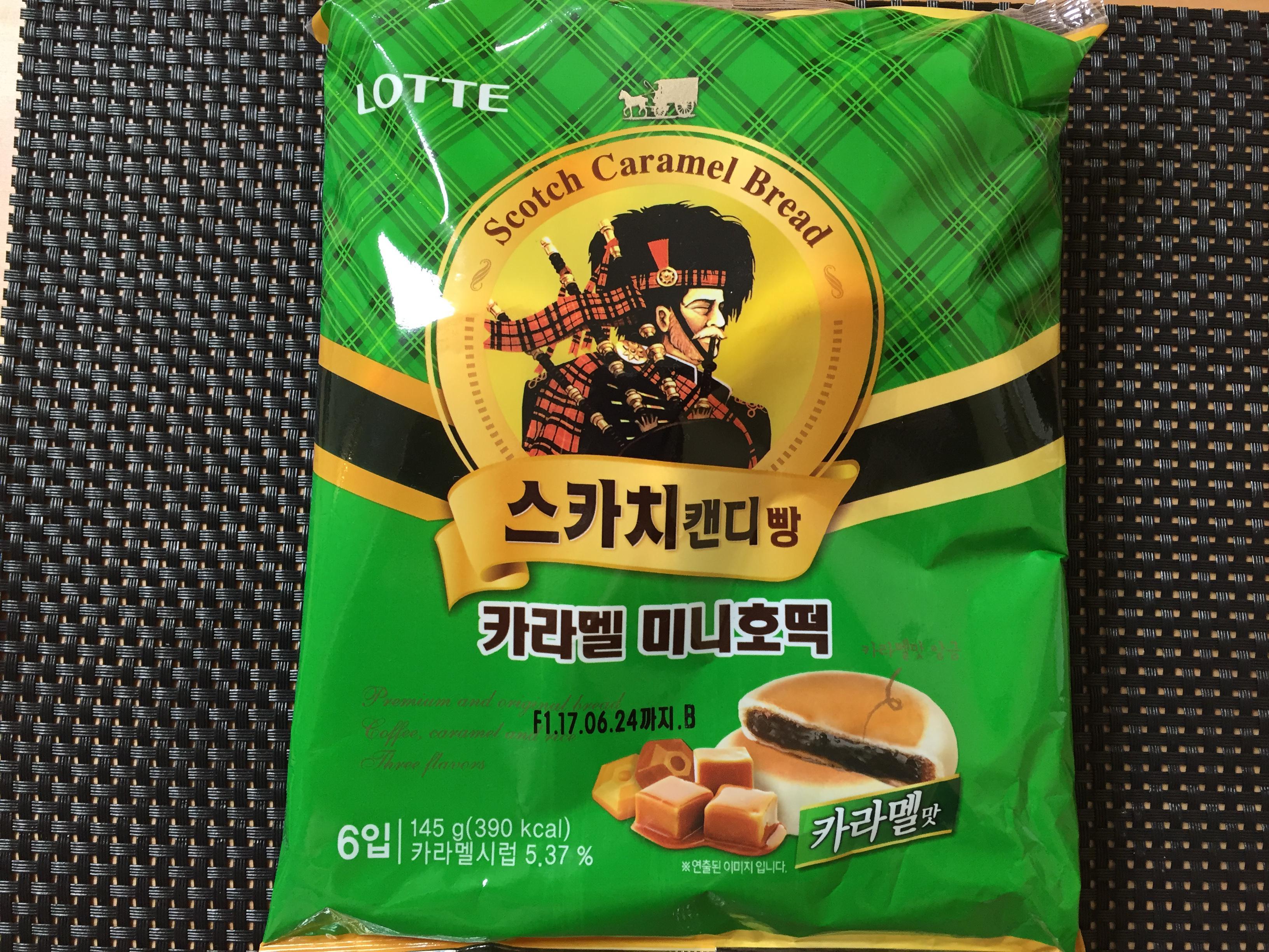 [LOTTE] 스카치 캔디 빵 카라멜 미니호떡