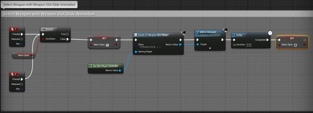 Unreal Engine 4 Blueprint - Select weapon w..