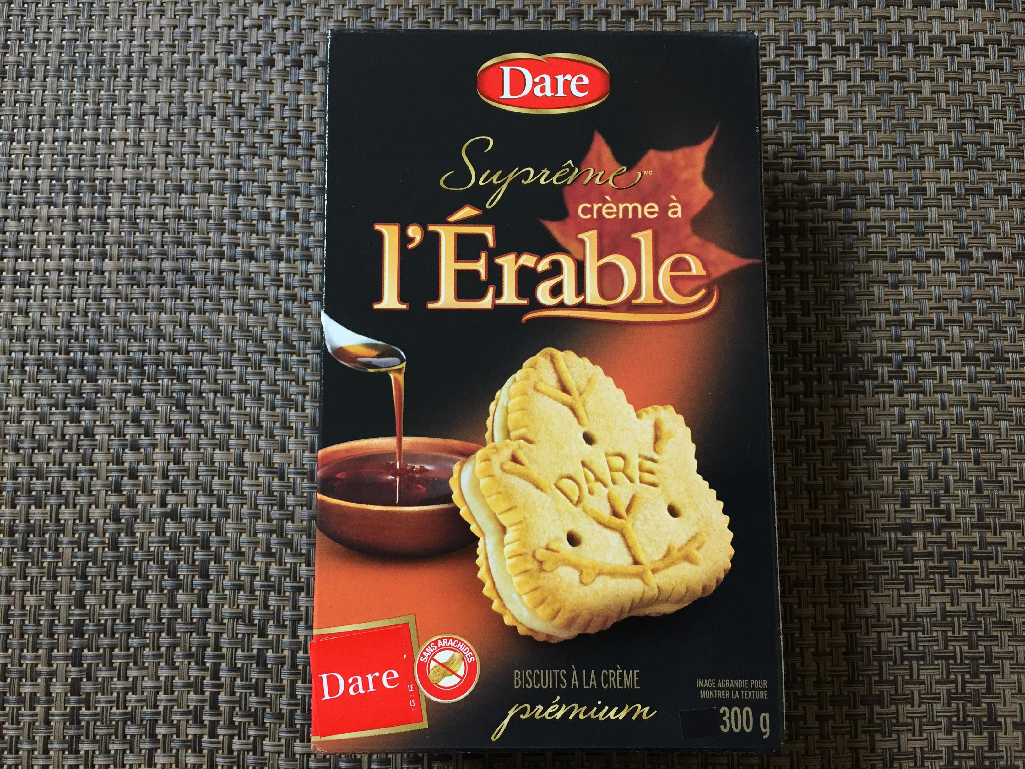 캐나다의 맛, [DARE]Maple Crème Cookie..