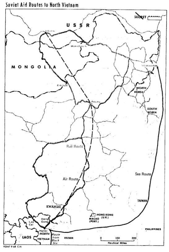 [1965년]소련과 중국의 북베트남 지원 신경전?