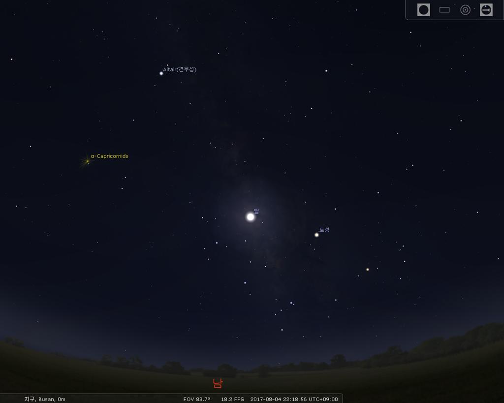 오늘의 밤하늘 별자리 분포