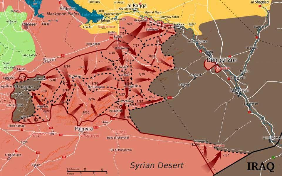 시리아 동부 라벤다 작전 전개도