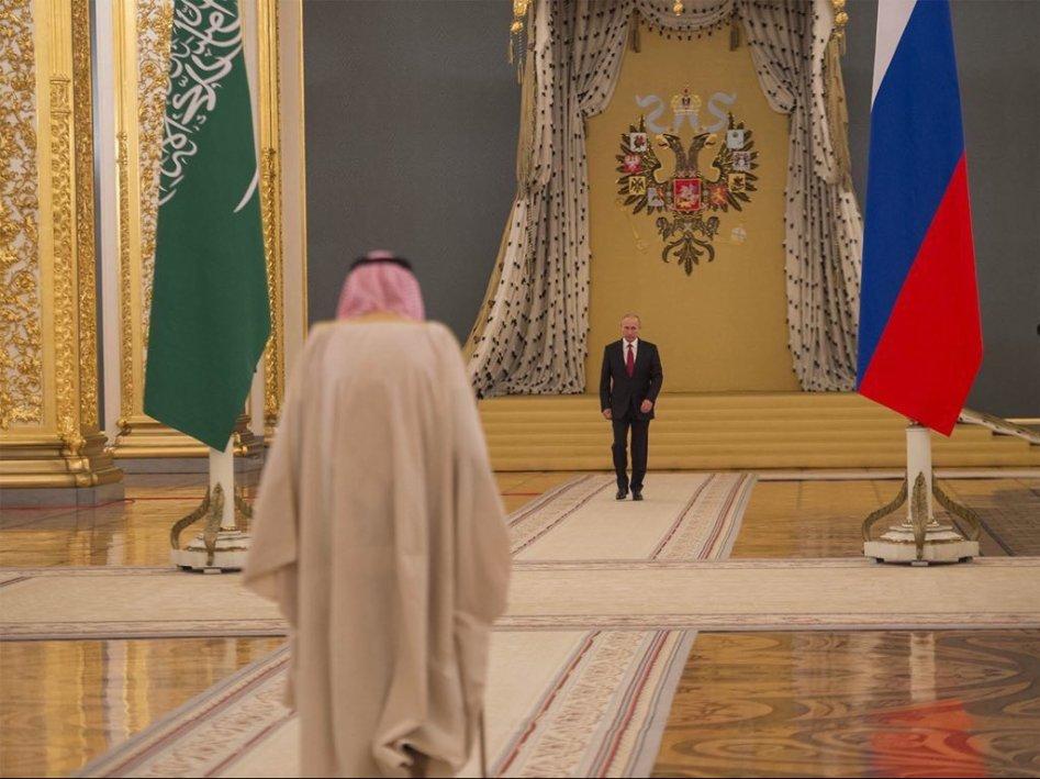 러시아 짜르와 사우디 국왕과의 만남
