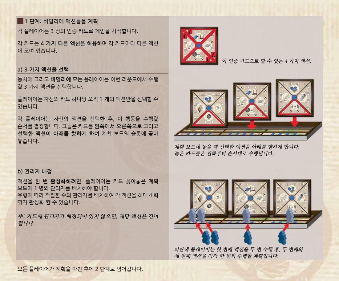 [작업중] 에도 (EDO) 보드게임, 룰북 한글화 중
