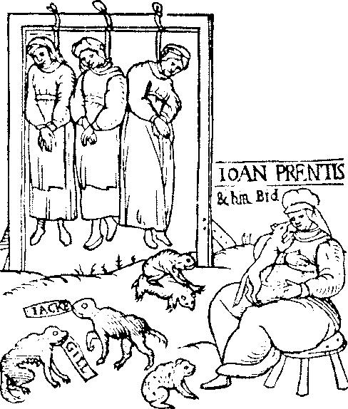 """16세기 마녀사냥 팜플렛 그림을 보고 연상된 """"시녀이.."""